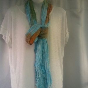 Gauzy Airy  Multicolored Scarf